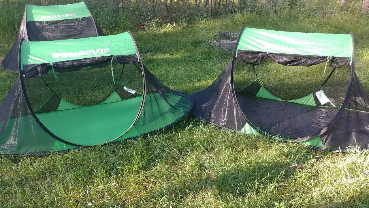Sansbug Pop-Up Bug Tent   Demo u0026 Review   Bug Net Shelters & Sansbug Pop-Up Bug Tent   Demo u0026 Review   Bug Net Shelters - YouTube