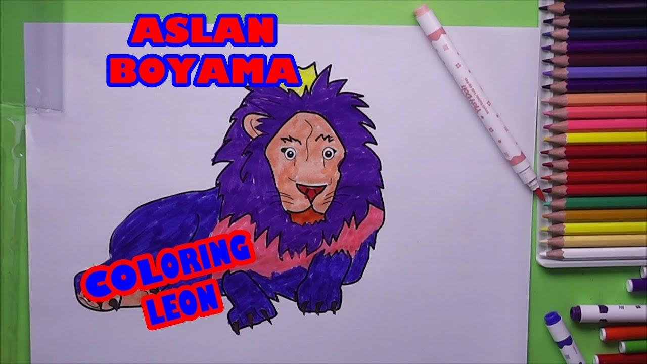 Aslan Boyama Aslan Nasil Boyanir Coloring Lion Youtube