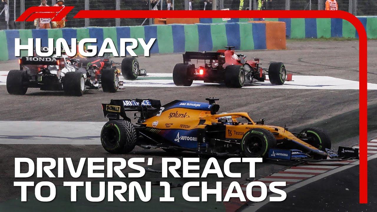 Drivers React To Turn 1 Chaos | 2021 Hungarian Grand Prix