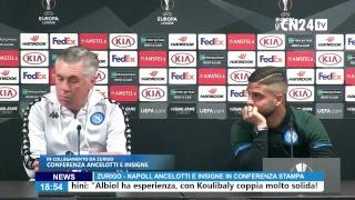 Europa League, Zurigo-Napoli: Carlo Ancelotti e Lorenzo Insigne in conferenza stampa