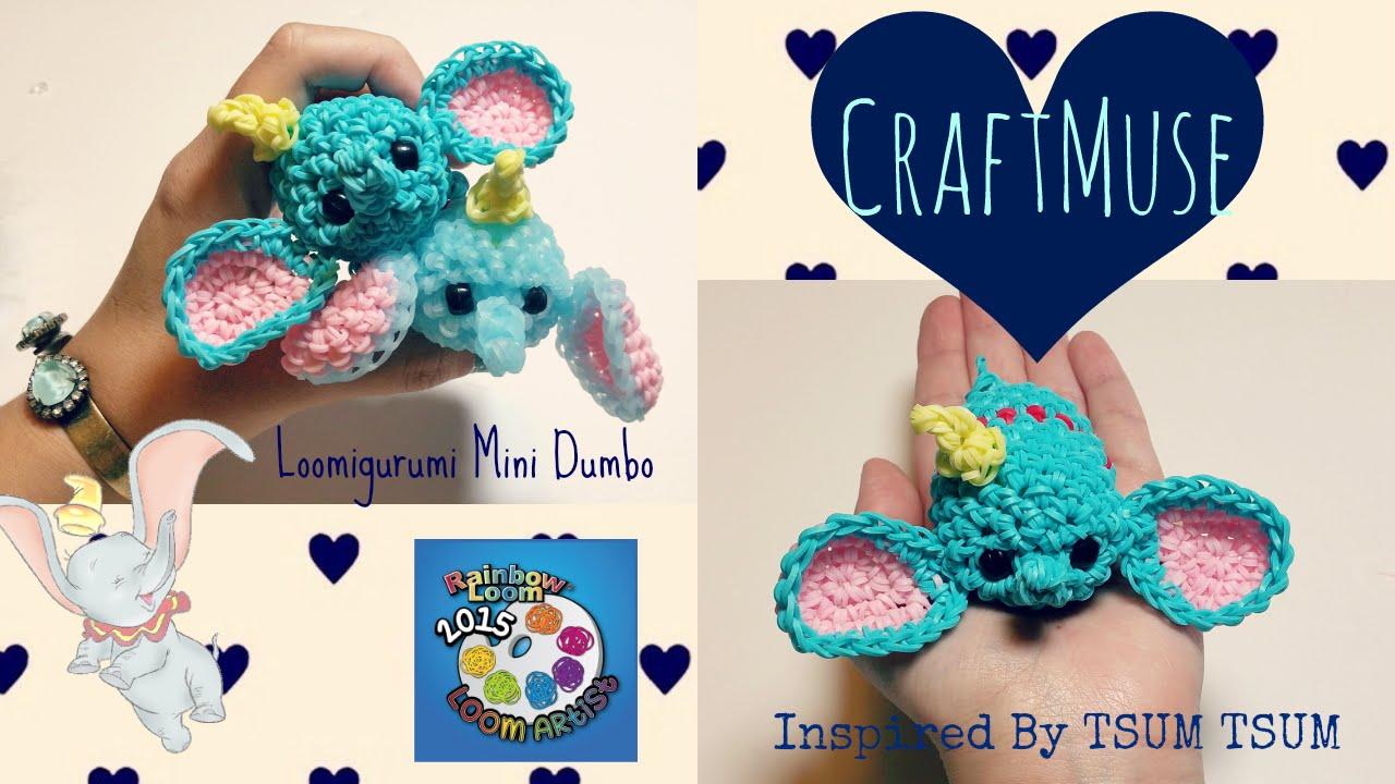 Rainbow Loom Loomigurumi Mini Dumbo Inspired By Tsum Tsum