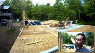 Framing Walls For The 2nd Floor Day 1 - 25 - My Garage Build Hd Time Lapse