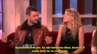 Taylor conhece Justin Timberlake no programa da Ellen Degeneres (LEGENDADO)