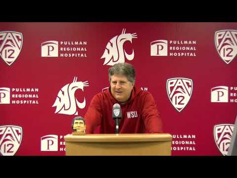 WSU Football: Mike Leach Press Conference 11/18/19
