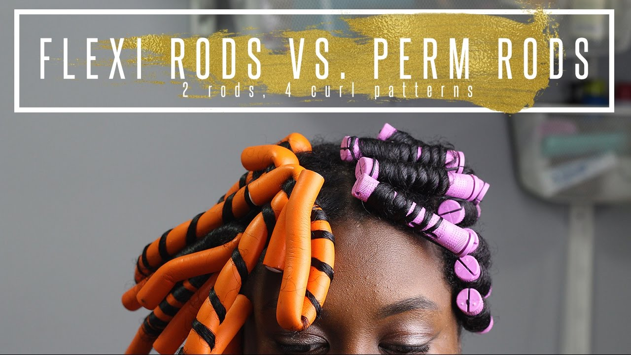 perm rods vs flexi rods 4 different curl patterns