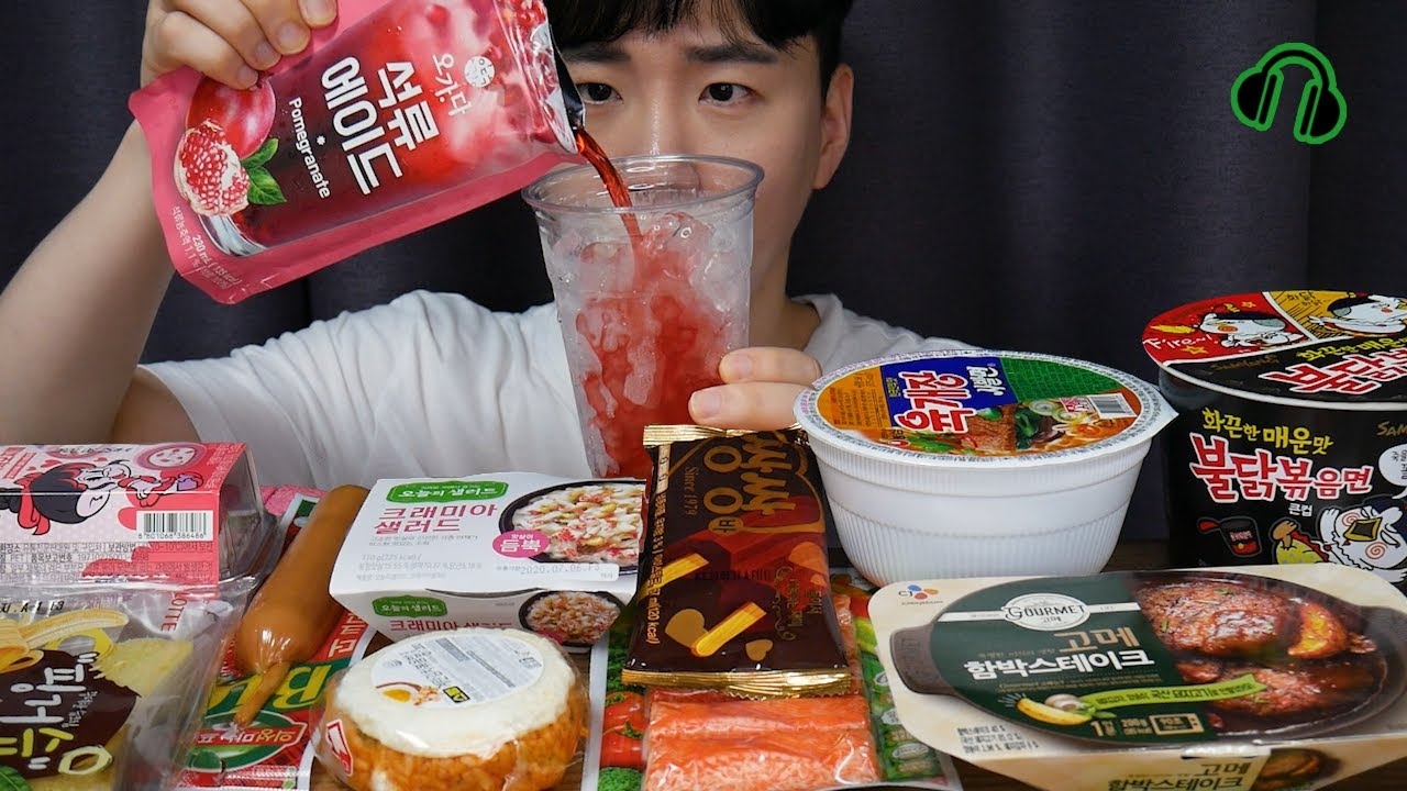 ENG 편의점음식은 역시.. 조용한먹방 I love convenience store food.. Mukbang ASMR DoNam