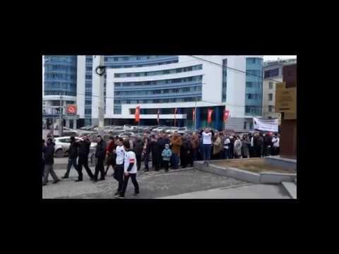 Траурное  шествие в Екатеринбурге в честь памяти жертв Геноцида Армян