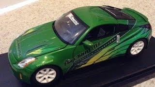 Fast and furious Tokyo drift Nissan 350Z green die cast Ertl