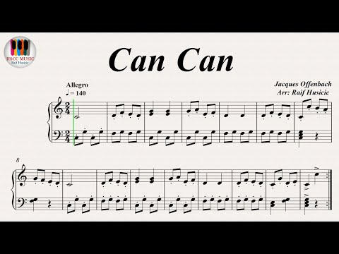 Can Can - Jacques Offenbach, Piano