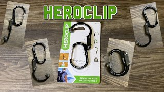 Heroclip : Rotating Hook Gear Clip : EDC : Better than a Carabiner : Review