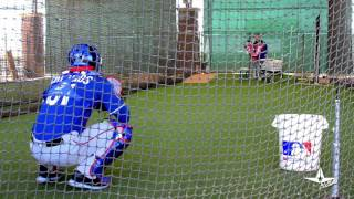 Jonathan Lucroy & Robinson Chirinos - Catching Cage Work