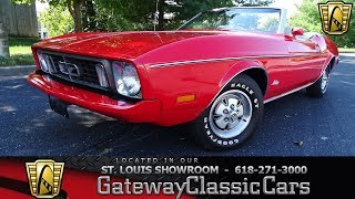 1973 Ford Mustang Convertible Stock #7862 Gateway Classic Cars St. Louis Showroom