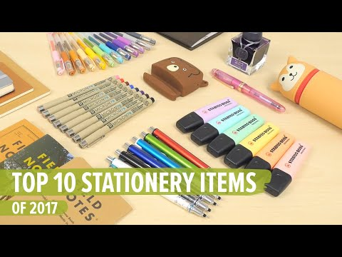Top 10 Stationery Items of 2017