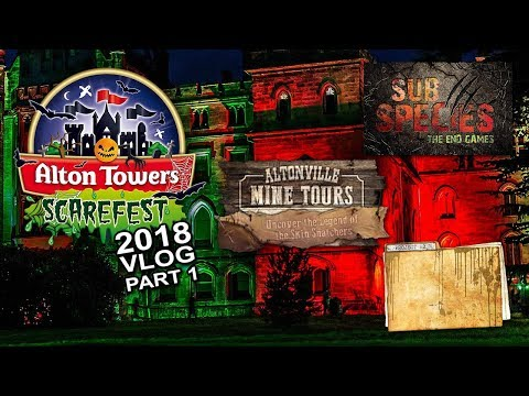 Alton Towers Scarefest 2018 - Mini Vlog and Maze Review - Part 1 (Daytime)