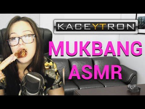MUKBANG EATING AND SUCKING ON RIBS ASMR