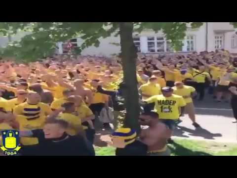 Brondby Ultras Going Insane on Streets before match agains Copenhagen