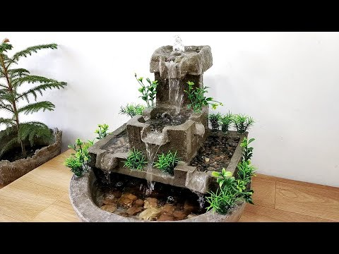 How to make amazing beautiful very nice cemented waterfall fountain water fountain
