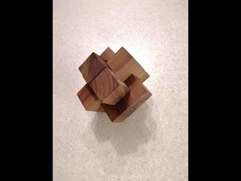 Деревянный узел из 6 деталей (Головоломка из шести деталей)