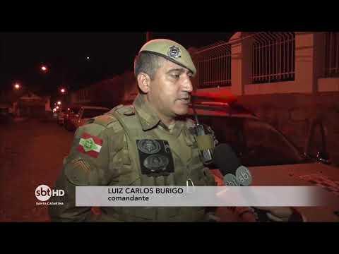 Equipe do SBT SC acompanha o trabalho do Pelotão de Patrulhamento Tático da Polícia Militar