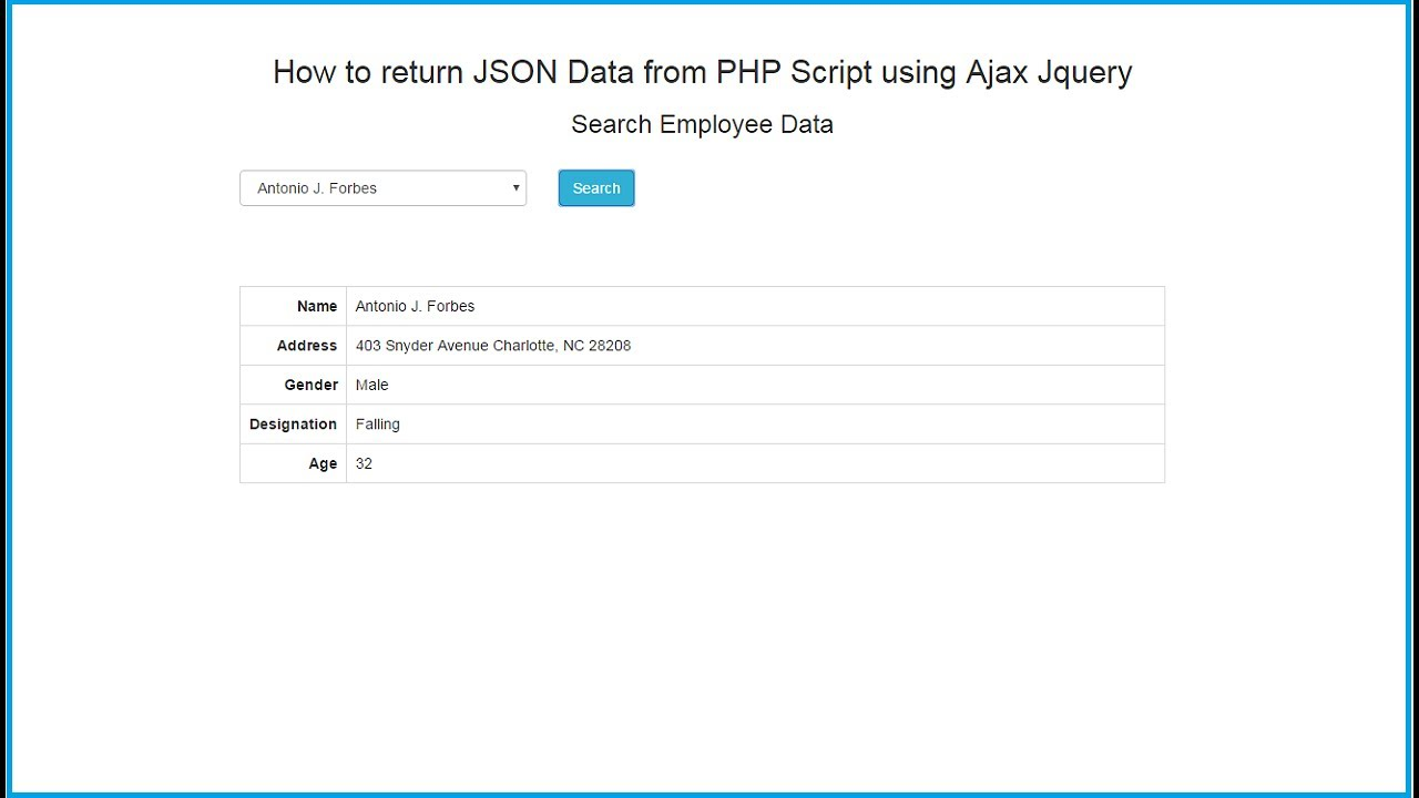 Ajax live data search using jquery php mysql youtube.