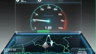 Test uw snelheid van de provider waar u een aansluiting mee heeft.