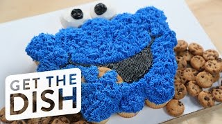 Cookie Monster Pull-Apart Cake | Get the Dish
