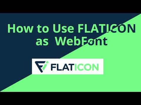 How To Use Flaticon As Webfont