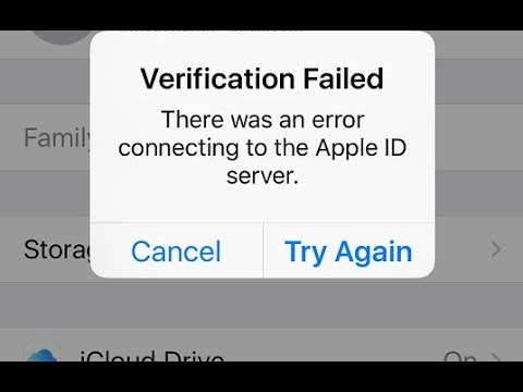 How to Fix ''verification failed there was a problem connecting to the server