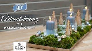 DIY-Weihnachtsdeko: Adventskranz mit süßer Waldlandschaft [How to] Deko Kitchen (P)