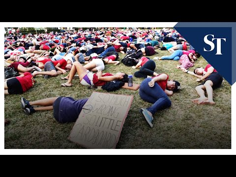 Die-in at Singapore Climate Rally | The Straits Times