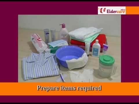 Bed Sponge (Bed Bath) - Eldercare Training Video By CFS