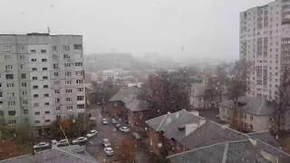 В Самаре идет первый снег! 28 октября