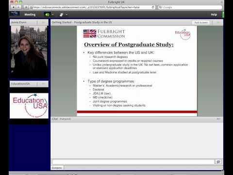 Webinar: Postgraduate Study in the US