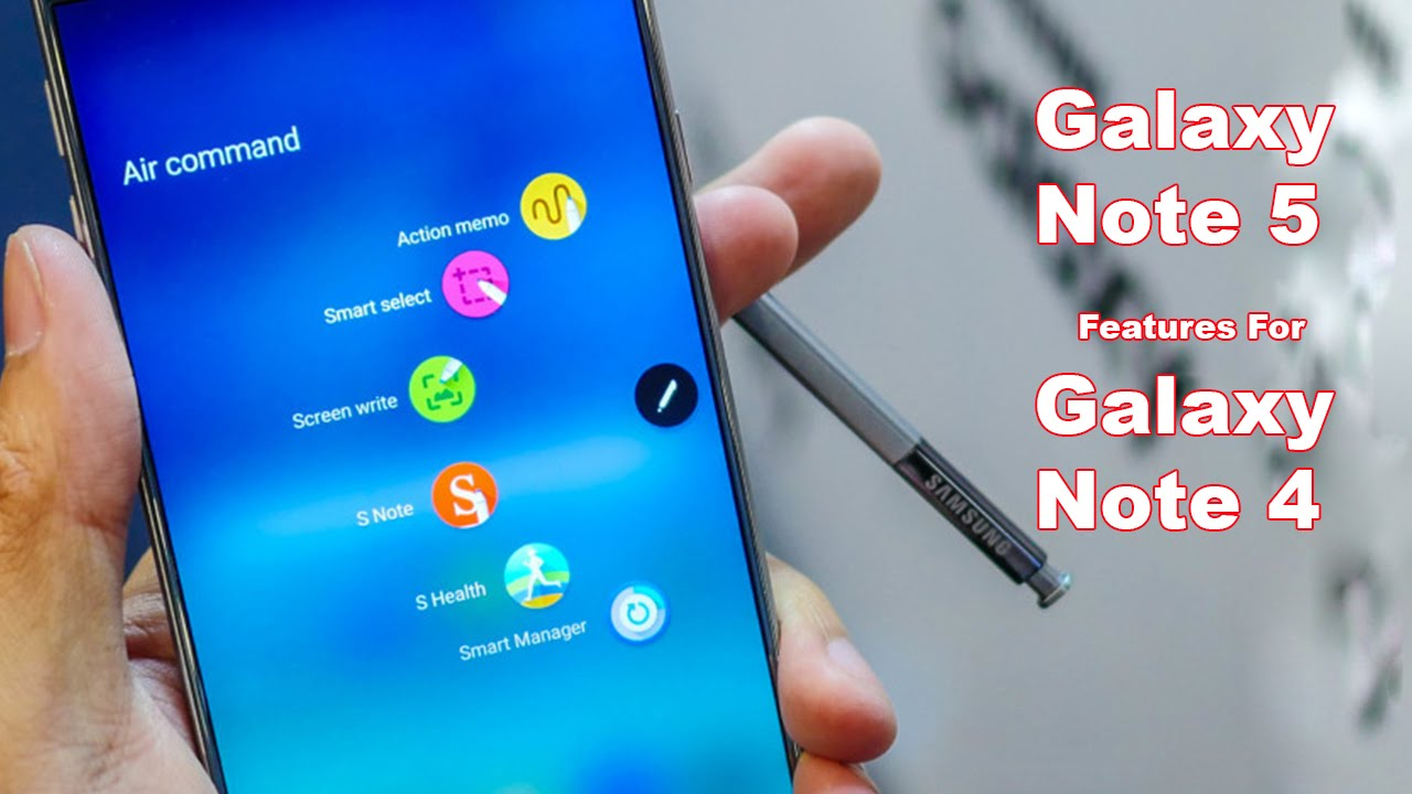 Samsung Galaxy Note 5 ROM for Galaxy Note 4 (Full Note5 Features on Note4)