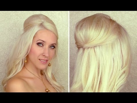 updo with curls and bump poof