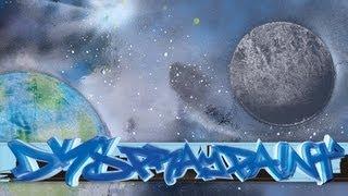 Spray Paint Galaxy Tutorial - Earth, Moon & Stars
