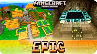 Minecraft PE Seeds - 6 Villages, Stronghold and The End Portal - MCPE 1.0 / 0.17.0 / 0.16.0