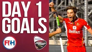Day 1 ALL THE GOALS!   2018 Men's Hockey Champions Trophy