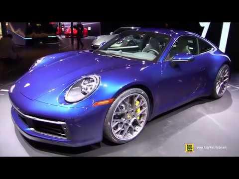 2020 Porsche 911 Carrera 4s 992 Gentian Blue Exterior Interior Walkaround 2018 La Auto Show Youtube