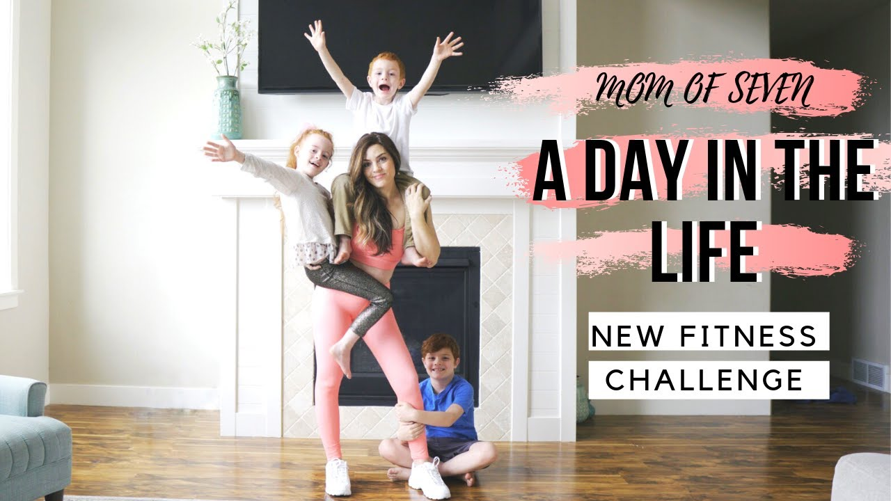 MOM OF SEVEN: A Day in the Life   Vlog 2   Fitness Challenge   Full Day of Eating