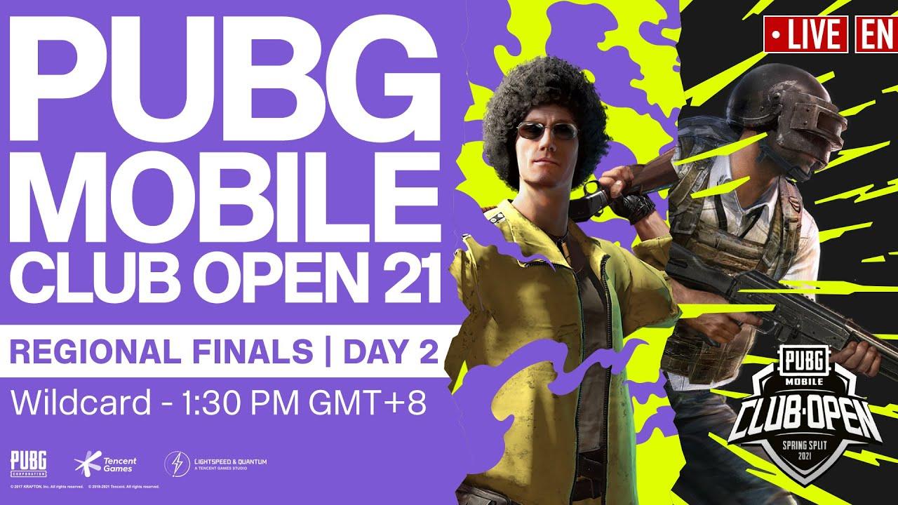 [EN] PMCO Wildcard Regional Finals Day 2 | Spring Split | PUBG MOBILE Club Open 2021