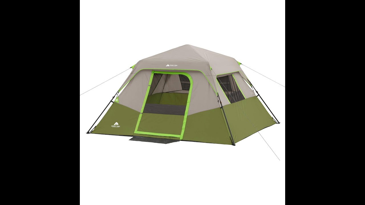 sc 1 st  YouTube & Ozark Trail 6 person 10ft x 9ft Instant cabin tent How to - YouTube