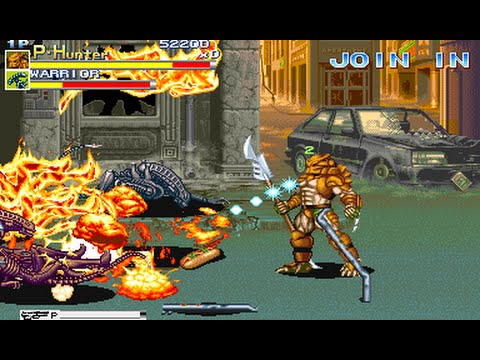 Alien vs Predator (Arcade/Capcom/1994 Hunter) [720p]