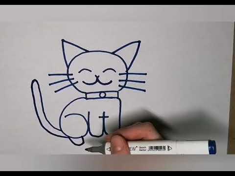 Малювання тварин Котик - Центр художньо-технічного розвитку, гурток Фабрика ідей.