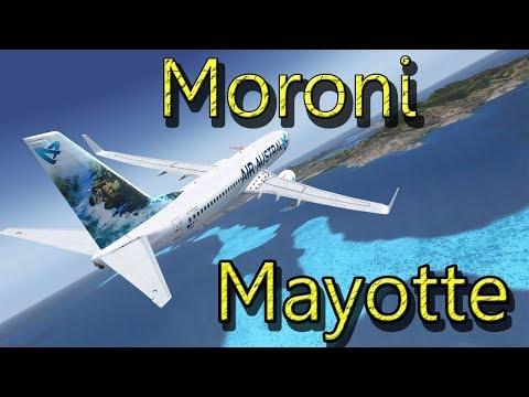 [FSX] MORONI-MAYOTTE EN PMDG B737 DE CHEZ AIR AUSTRAL| REU256