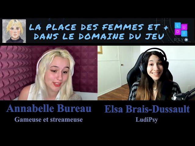 La Place des Femmes et + dans le Domaine du Jeu: Annabelle Bureau
