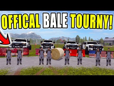 THEE OFFICIAL BALE TOURNAMENT | MULTIPLAYER | LIVE STREAM | FARMING SIMULATOR 2017 thumbnail