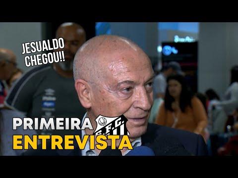 Jesualdo Ferreira CHEGOU no Brasil!! Confira a primeira entrevista do novo técnico do Peixe!!