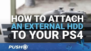 How to Attach an External HDD (Hard Drive) on PS4 | Firmware Update 4.50 | PlayStation 4 Guides