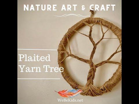 Nature Art & Craft – Nature Inspired Plaited Yarn Tree
